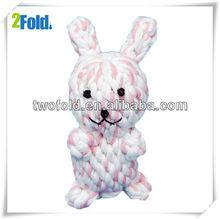 Cotton Ropy Dog Toy Plush Bunny