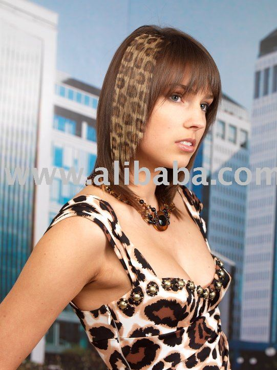 See larger image: HAIR TATTOO - SAFARI EXTENSIONS - LEOPARD