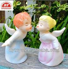 Beijando querubim figurinhas, Schmid plástico anjos
