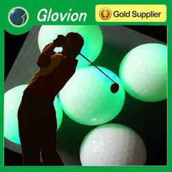 Luminous LED glow golf ball for sport in dark Motion senser glow golf ball Advertising golf ball