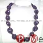 Kukui Choker (Purple) with Beads