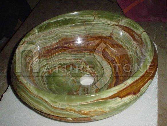 Baños Color Verde Oscuro:De color verde oscuro onyx fregaderos, verde onyx lavabo, mármol