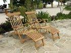 Teak Steamer chair - High quality - material: Solid teak wood Indonesia