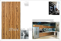 kitchen cabinet furniture with wooden grain color