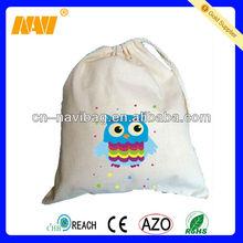 Stylish eco drawstring cotton bagNV-CT038)