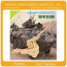 cannon 3d intelligent diy puzzle wooden toys wholesales