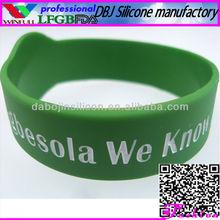 2013 Neon Silicone/Rubber Magnetic Bracelet/Wristband(LFGB/FDA/CE)