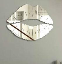 plastic bathroom mirror rattan wicker mirrors mirror decoration stick (B0076)