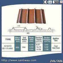OEM cheap decorative metallic structures magnesium oxide roof tiles supplier