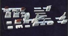 Rectangular electric connectors