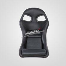 Customized high quality black FRP emboridery logo racing car seat leather