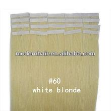Wholesale straight virgin mongolian hair tape weft, tape hair extension