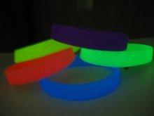 glow silicone wristband