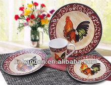 KC-00160/porcelain dinner set /big hen design