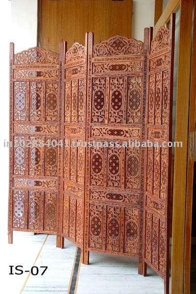Divis ria de madeira dobr vel sala divisores tela de - Telas decorativas para paredes ...