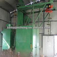 hook type steel structre workpiece surface cleaning machine