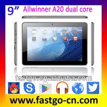 Hot! 9 INCH A20 Dual Core ubuntu tablet
