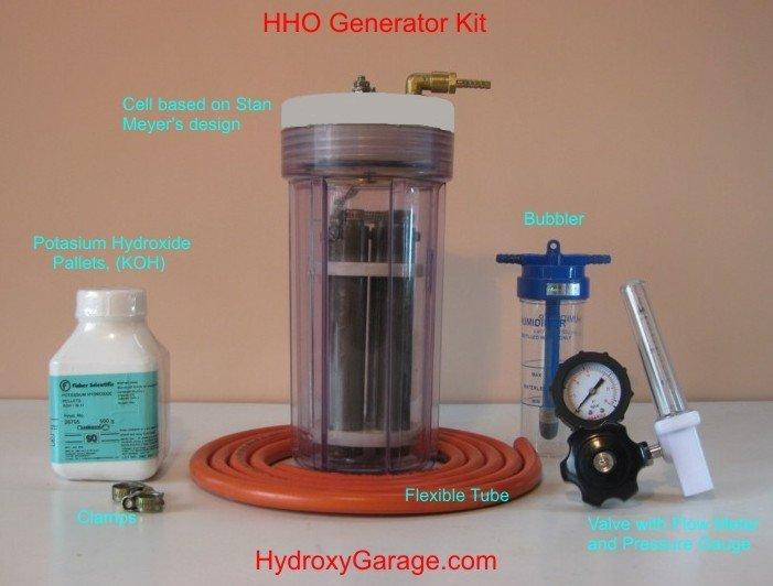 Pila de combustible de hidrógeno Kit de extremo a extremo ejecutar su coche agua