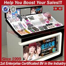 DG hot sale wooden makeup display cosmetic wood pop display stand