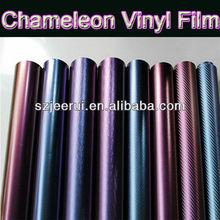 Chameleon Carbon Vinyl Sticker Stylize Your Car 1.52X30m,Car Wrapping Foil Chameleon Film,3M Car Sticker Color Changing