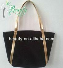 2013 fashion black woven straw bags for ladies