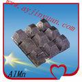 Ferro aleación de oro almn calidad, de aluminio de manganeso ferro aleación de la mejora de la calidad del acero