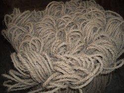 Machine twisted 2ply coir yarn