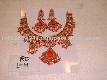 Designer Exclusive Indian Costume Fashion Imitation Jewellery ~ Artificial Gold Kundan Bridal Jewelery ~Gemstones, Pearl Jewelry