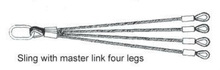 steel wire rope lifting sling with master link four links