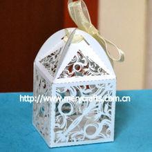 Mery custom new product laser cut favor box swirl design cheap wedding favors