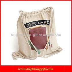 Personalized Handmade Cotton Fabric Drawstring Backpack Bag HKCB1060