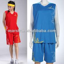 Latest design basketball wear men/women,cool basketball jersey and short,casual basketball shirt