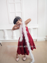 Chinese classical red girls wear in summer flower girl dresses for weddings