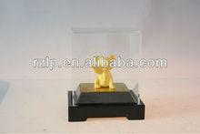 Ouro presente e artesanato dupla face fita de cetim com borda de ouro