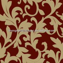 Chinese PVC Deep Embossed Designer Wallpaper