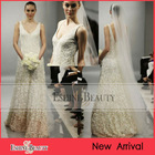 2014 Garden Beautiful V Neck Lace Bridal Wedding Dress