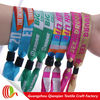 polyester fabric wristband festival with buckle