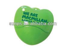 Super Quality Plastic Heart Shape Flash Drives Pen with Wholesale Price