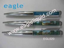 promotion chrome plastic liquid floater aqua pen
