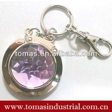 2013 Portable customized design crystal table bag hanger