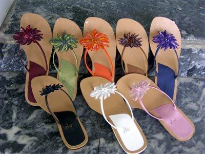 Beads N Sequins Flower Flip Flop Thong Sandals