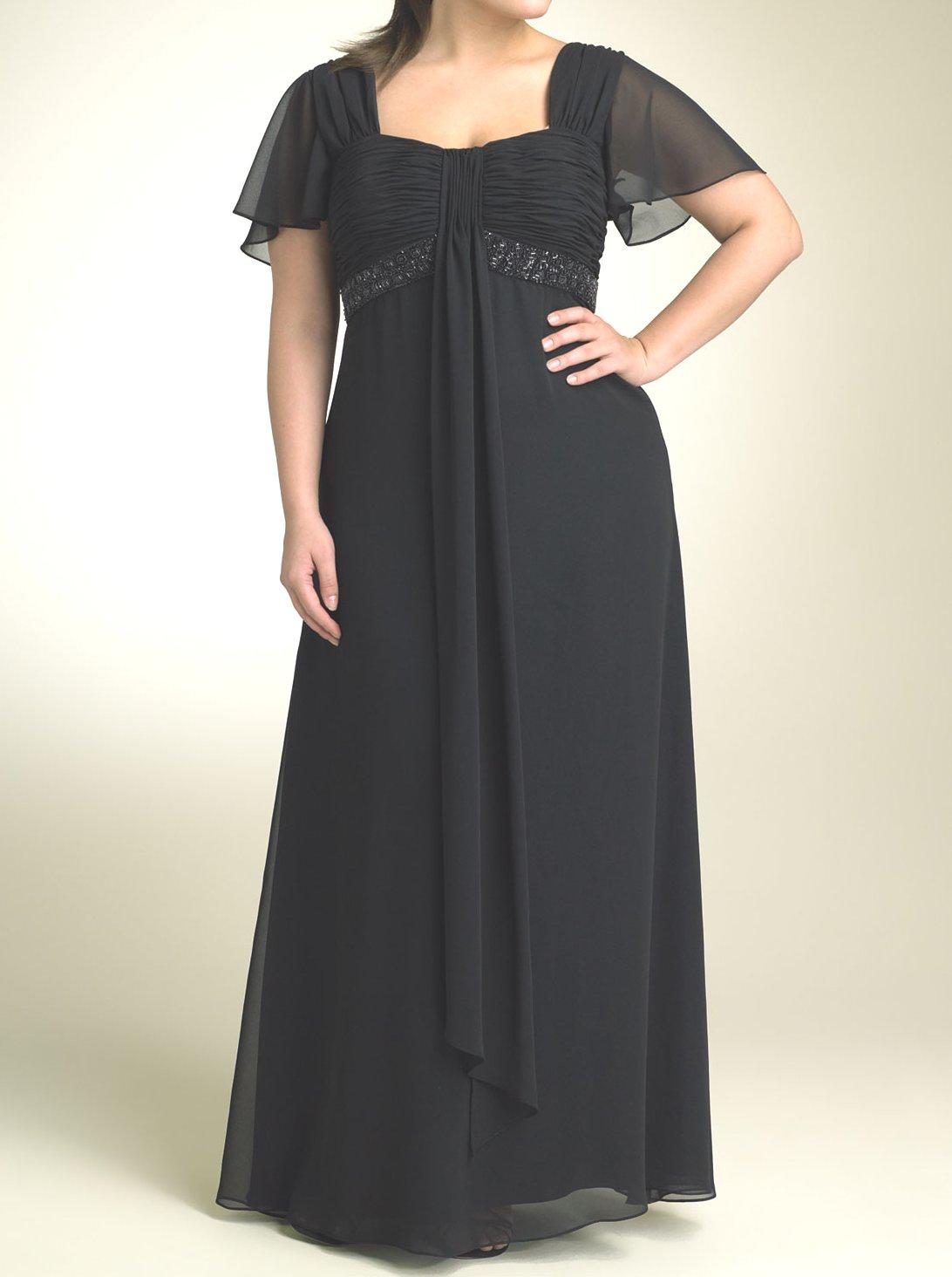 Модели вечерних длинных платьев для полных женщин