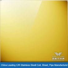 Mirror Gold Stainless Steel Sheet Foshan China