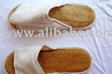 loofah spa slippers
