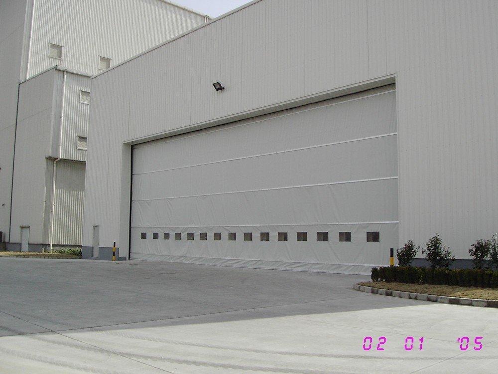 Tissu porte de hangar portes id du produit 108337707 for Porte hangar