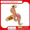 moda strass rosa anel de cobra para venda