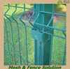 Metal Garden Fence Post Design