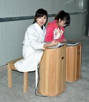 dry steam foot sauna barrel