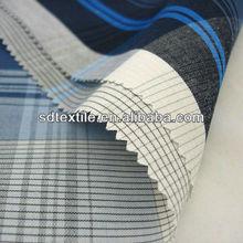 cvc yarn dyed cross stripe shirt fabric