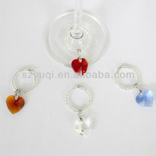 Glass personalized wine glass charm wedding favors